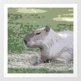 capybara Poster Art Print