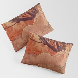 DUSK by Alphonse Mucha Pillow Sham