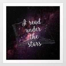 I read under the stars Art Print