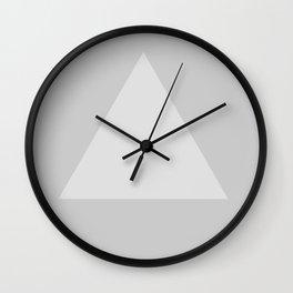 Gray Triangle Wall Clock