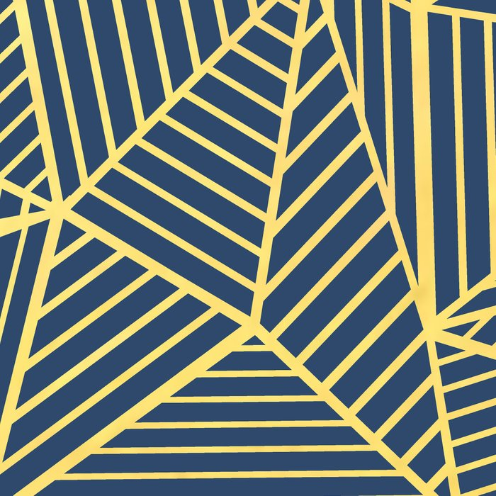 Ab Lines Gold and Navy Leggings