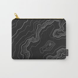 Black & White Topography map Carry-All Pouch