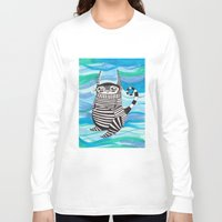 rubyetc Long Sleeve T-shirts featuring stripy fella by rubyetc