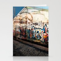 grafitti Stationery Cards featuring Grafitti Train by Squint Photography