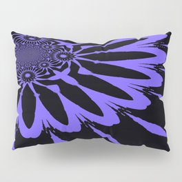 The Modern Flower Black and Periwinkle Purple Pillow Sham