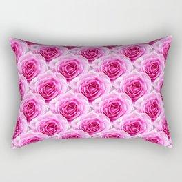 Tea Rose - Pink - Floral Pattern - Petal Elegance Art Deco Rectangular Pillow