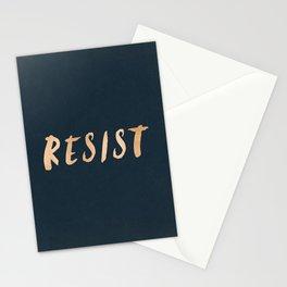 RESIST 7.0 - Rose Gold on Navy #resistance Stationery Cards