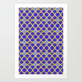 Blue Gold Scales Art Print
