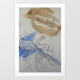 mando and mic Art Print