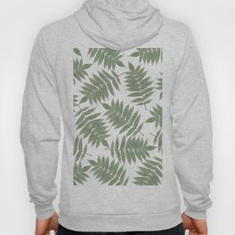 Hand painted forest green tropical leaves pattern Hoody