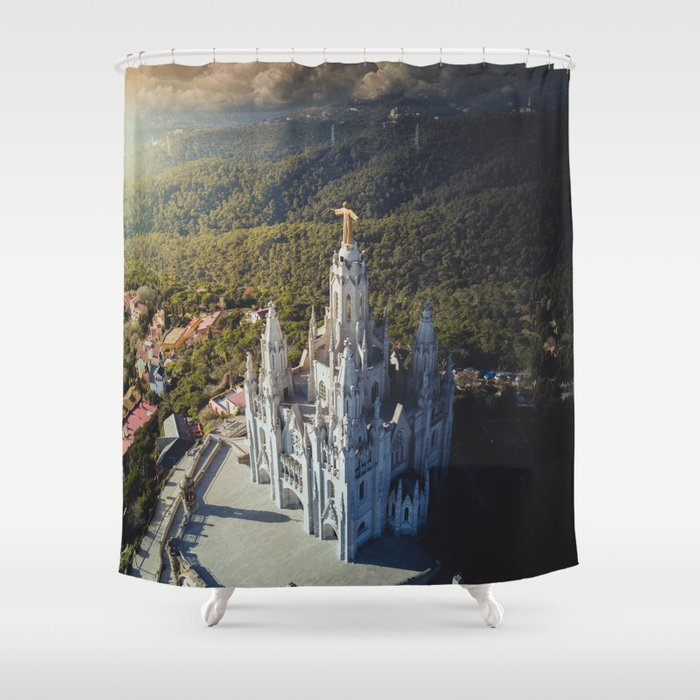 Temple Of The Sacred Heart Jesus Shower Curtain By Hdphoto