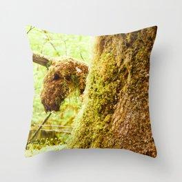 mossicorn Throw Pillow