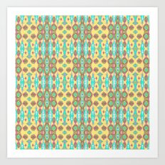 Ornately Yellow Art Print