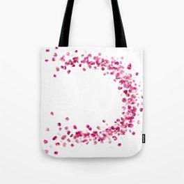 Circular Rose Petals Tote Bag