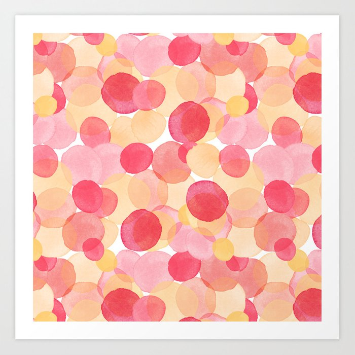 Watercolor Circles Two Art Print