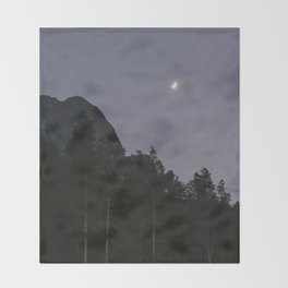 Lavender Moon | Nature and Landscape Photography Throw Blanket