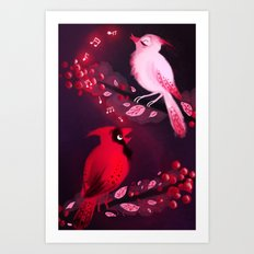 Cardinal Song Art Print