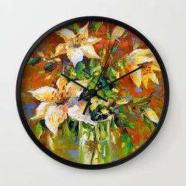 Bouquet of lilies Wall Clock