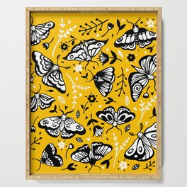 Moths & Flowers Serving Tray