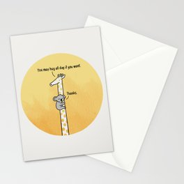You may hug all day if you want Stationery Cards