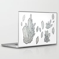 crystals Laptop & iPad Skins featuring Crystals by Sushibird
