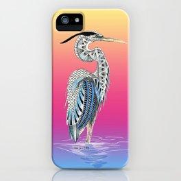 Great Blue Heron Totem iPhone Case