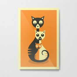 3 Cats Metal Print