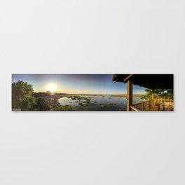Marshy Sunset Canvas Print
