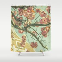 blossom Shower Curtains featuring Blossom by AlejandraClick
