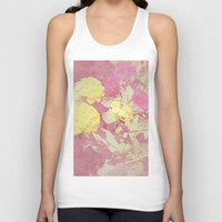vintage floral Tank Tops featuring Floral by ieIndigoEast