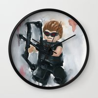 avenger Wall Clocks featuring Avenger Lego by Toys 'R' Art