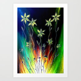 Flower Bursts Art Print