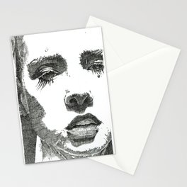 Female Face Stationery Cards