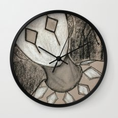 portrait of a harlequin Wall Clock
