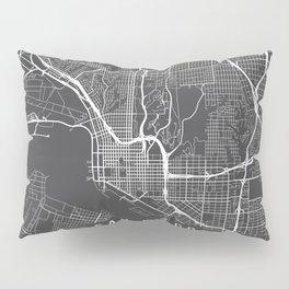San Diego Map, California USA - Charcoal Portrait Pillow Sham
