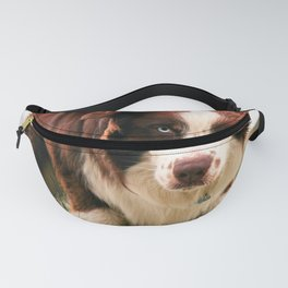 Portrait of a Dog in the Nevada Desert Fanny Pack