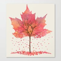 fall Canvas Prints featuring Fall by Dan Hess
