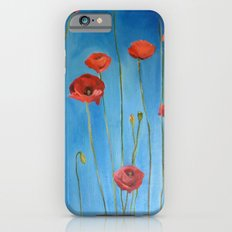 Blue Poppies Slim Case iPhone 6s