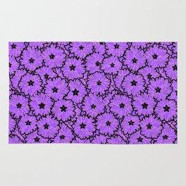 Purple floral pattern 2 Rug