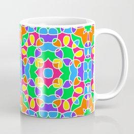 Rainbow Mosaic Symmetrical Swirls Kaleidoscope 2 Coffee Mug