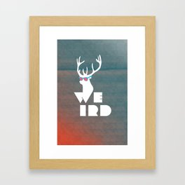 Weird Deer!  Framed Art Print