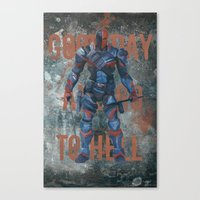 deathstroke Canvas Prints featuring Deathstroke by BatSpats