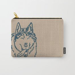 Happy Husky Carry-All Pouch