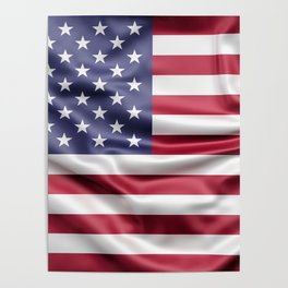 Flag of United States of America Poster
