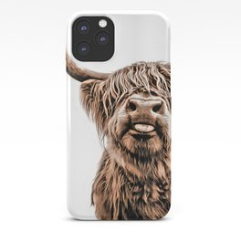 Funny Higland Cattle iPhone Case