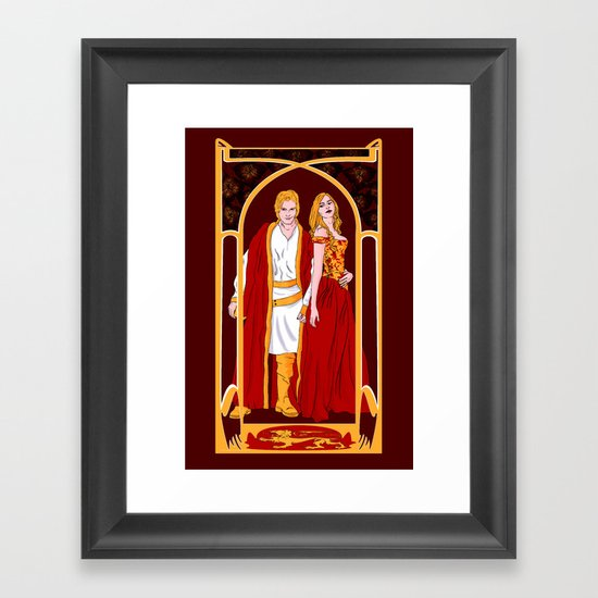 The Golden Twins Framed Art Print
