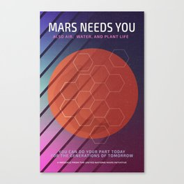 Mars Needs You Canvas Print