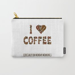 Monday Funny Coffee Saying Carry-All Pouch