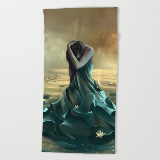 Vague à l'âme Beach Towel