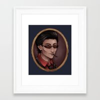 crowley Framed Art Prints featuring Crowley by Abbi Laura